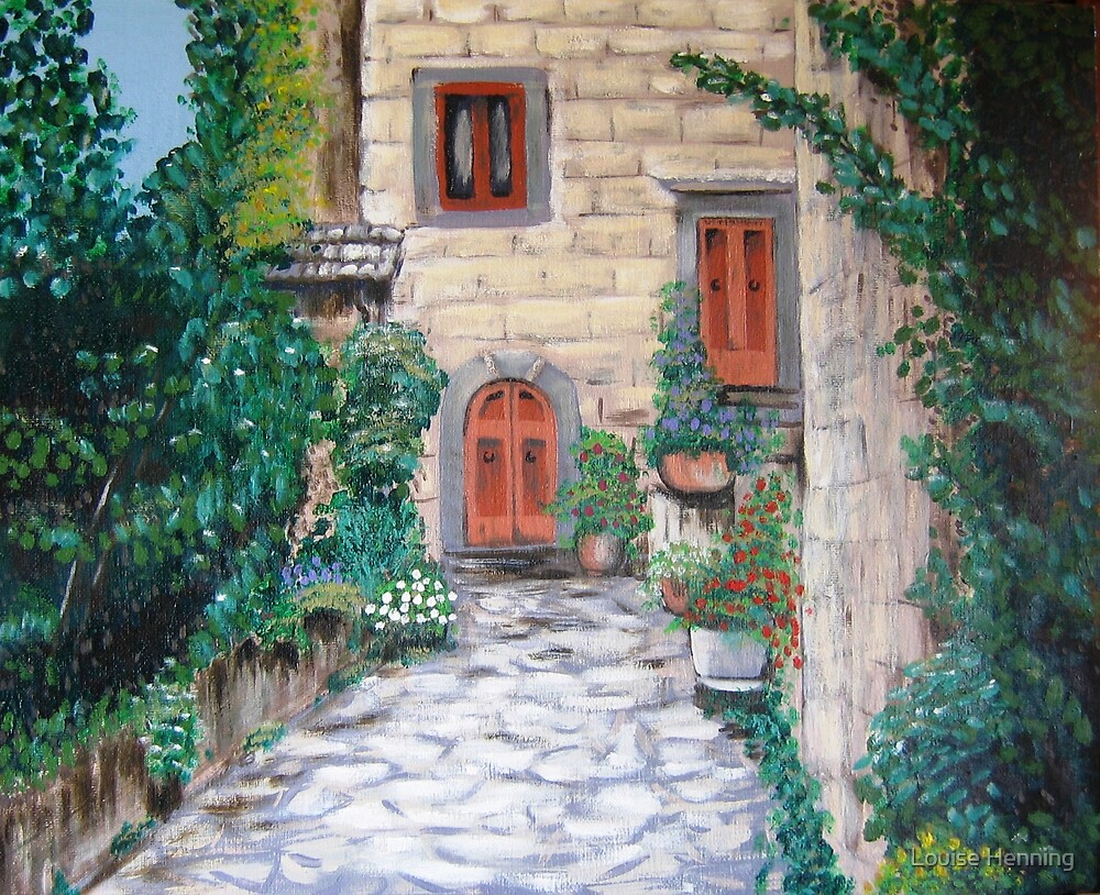 Italian home by Louise Henning