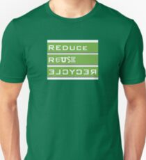 REDUCE REUSE RECYCLE Unisex T-Shirt