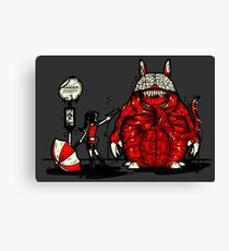 Totoro Was Infected Canvas Print