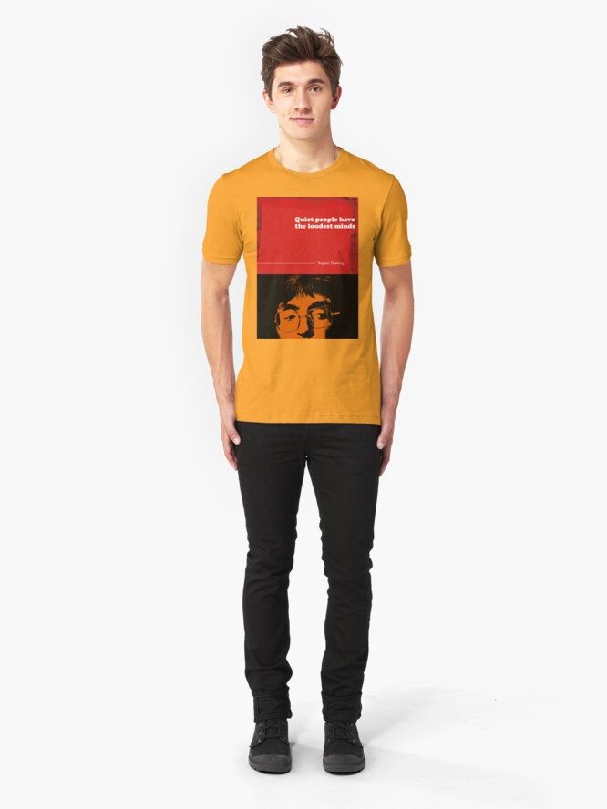 Alternate view of Stephen Hawking Quote Slim Fit T-Shirt