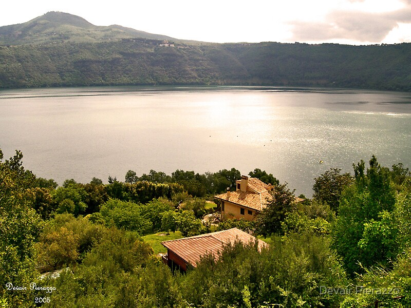 Castel Gandolfo lake by Devair Pierazzo