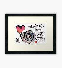 Take Heart (Sea Shell) Framed Print