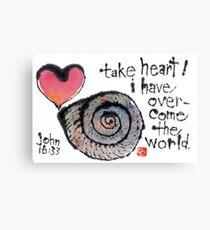 Take Heart (Sea Shell) Canvas Print