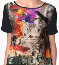 Cat Attack New York City Women's Chiffon Top