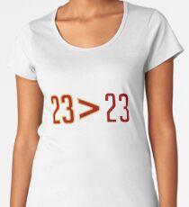 LeBron Greater Than Jordan (Black) Women's Premium T-Shirt