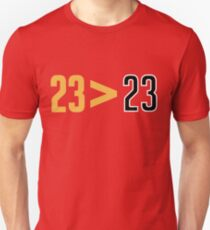 LeBron Greater Than Jordan (Red) Unisex T-Shirt