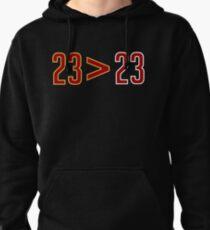 LeBron Greater Than Jordan (Black) Pullover Hoodie