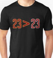 LeBron Greater Than Jordan (Black) Slim Fit T-Shirt