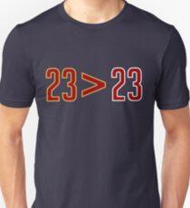 LeBron Greater Than Jordan (Black) T-Shirt