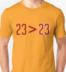 LeBron Greater Than Jordan (Black) Unisex T-Shirt