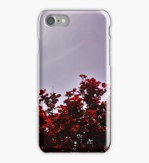 Red Treetops  iPhone Case/Skin