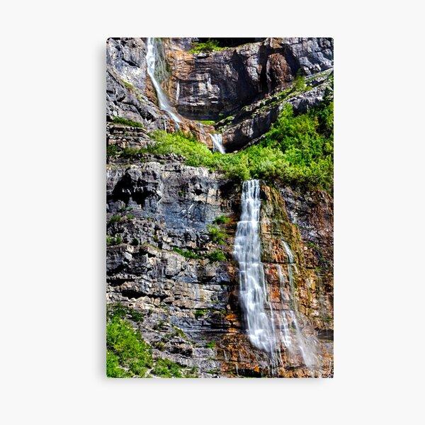 Bridal Veil Falls Provo Utah, By DAM Creative Canvas Print