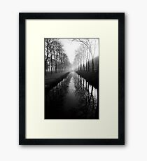 Film photography: Black and white morning Framed Print