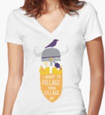 Pillage Women's Fitted V-Neck T-Shirt