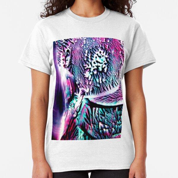 Teal Fuschia Abstract Classic T-Shirt