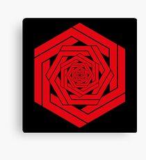 Red Hexgemony Canvas Print