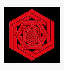 Red Hexgemony Photographic Print