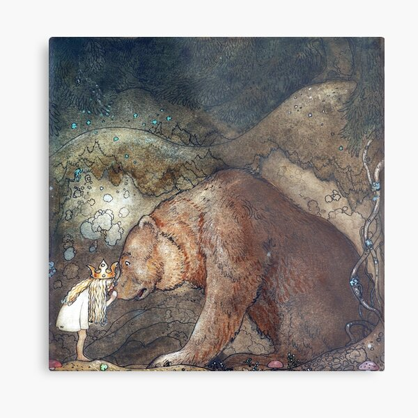 John Bauer Poor little Basse Metal Print