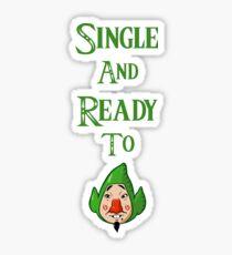 Single and Ready to Tingle Sticker