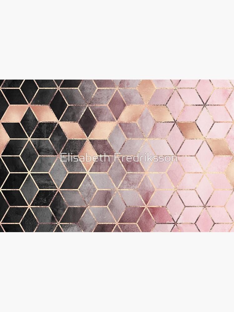 Cubos de color rosa y gris degradado de foto-ella
