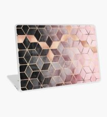 Pink And Grey Gradient Cubes Laptop Skin