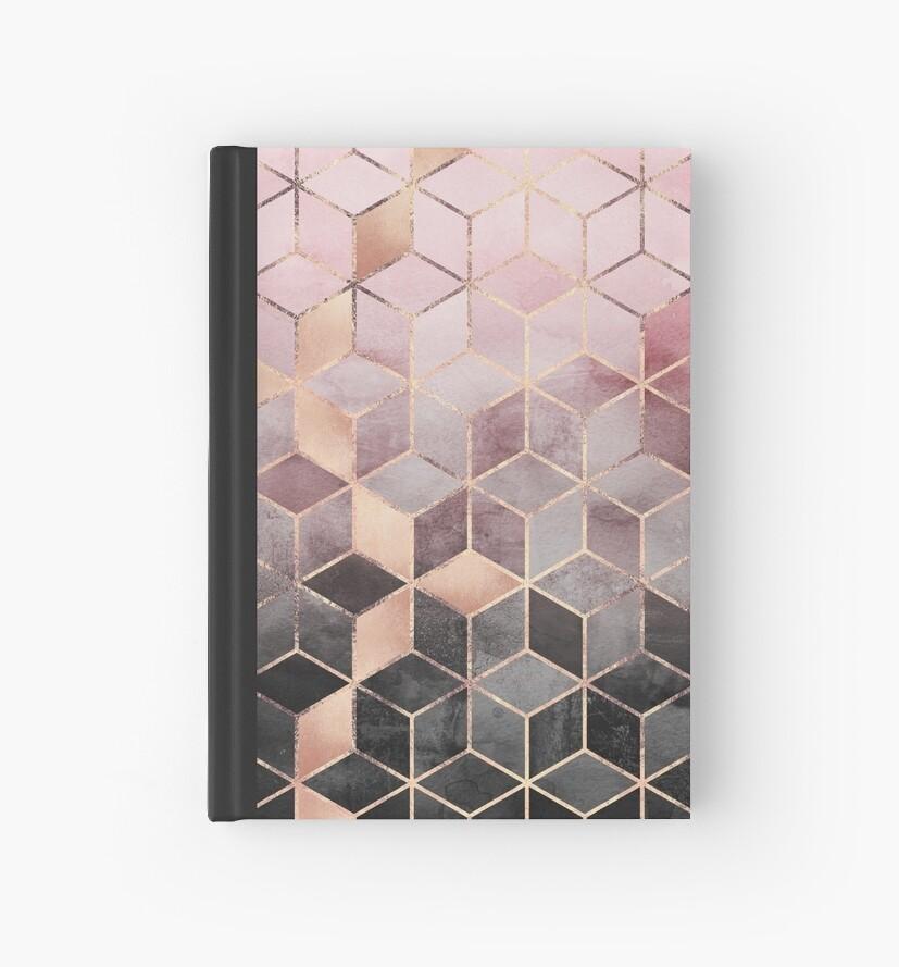 Rosa und graue Farbverlaufswürfel von Elisabeth Fredriksson