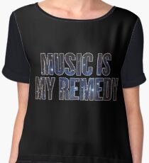 Music is my remedy Chiffon Top