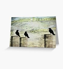 Three Little Birds Greeting Card