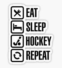 Eat Sleep Field Hockey Repeat Sticker