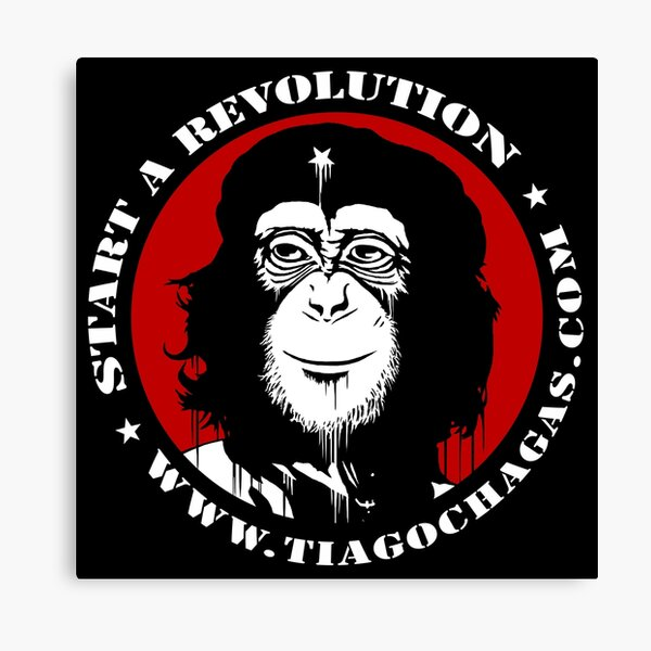 Start a revolution w Canvas Print
