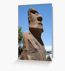 Moai Greeting Card