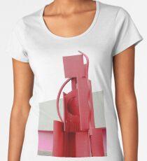 Red Abstract Sculpture Women's Premium T-Shirt