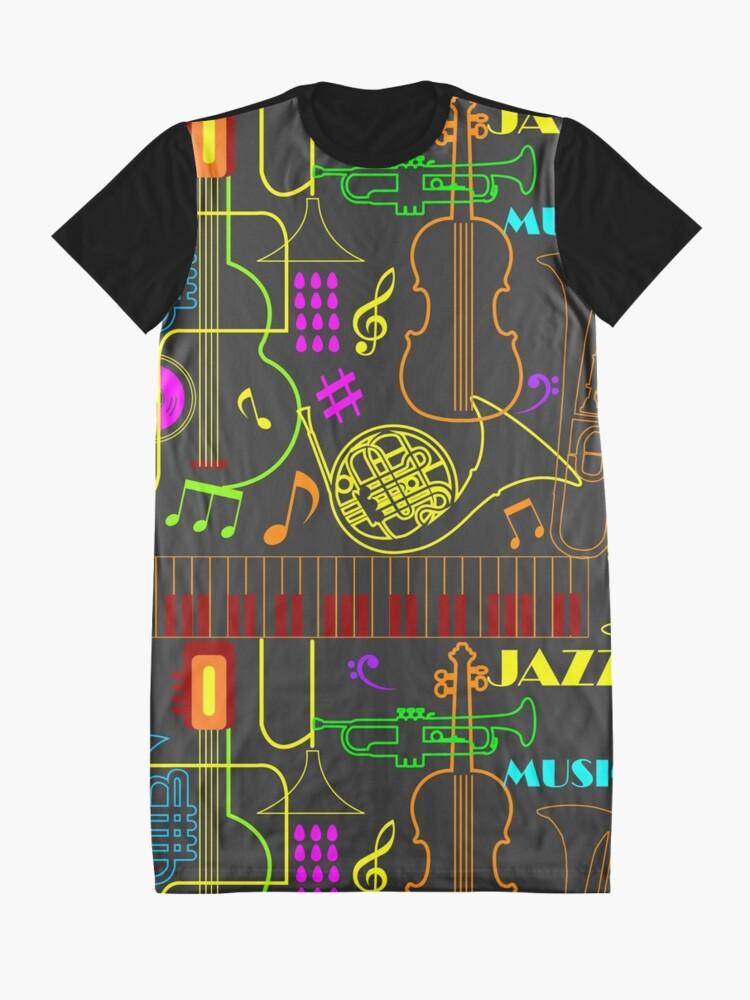 Alternate view of Neon Jazz Fest Graphic T-Shirt Dress