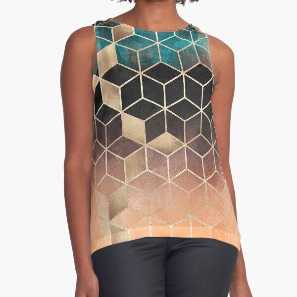 Ombre Dream Cubes Sleeveless Top