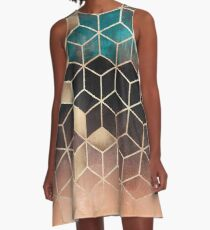Ombre Dream Cubes A-Line Dress