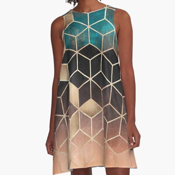 Ombre Dream Cubes A-Line Dress
