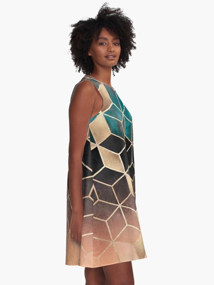 Alternate view of Ombre Dream Cubes A-Line Dress