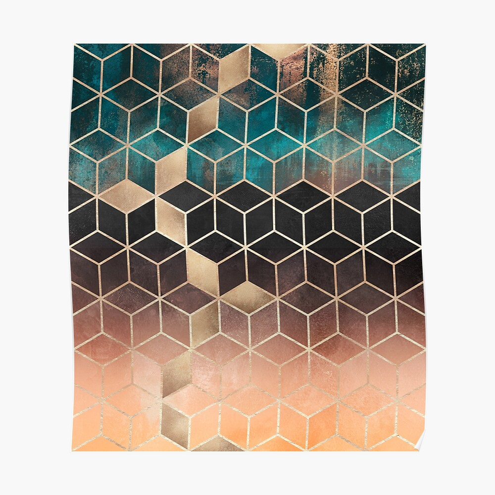 Ombre Dream Cubes Poster