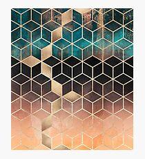 Ombre Dream Cubes Photographic Print
