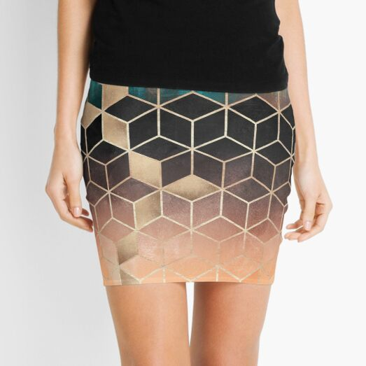 Ombre Dream Cubes Mini Skirt