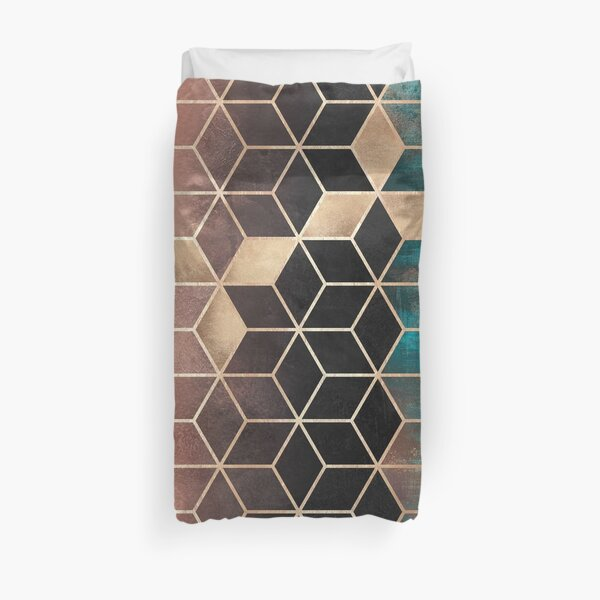 Ombre Dream Cubes Duvet Cover