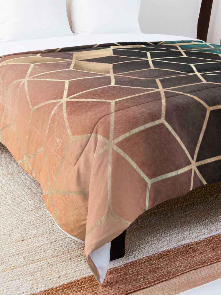 Alternate view of Ombre Dream Cubes Comforter