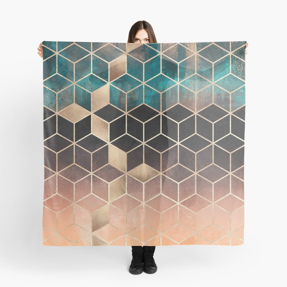 Ombre Dream Cubes Scarf