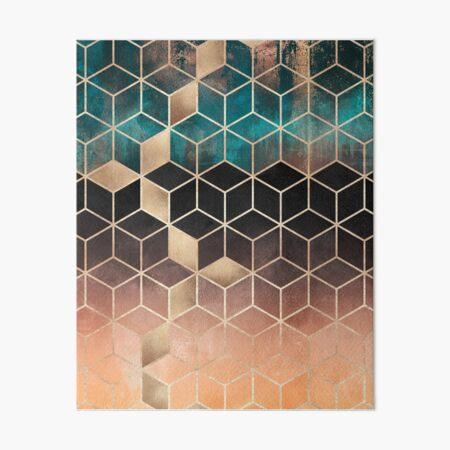 Ombre Dream Cubes Art Board Print