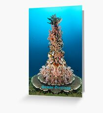 Neptuns Christmas Tree Greeting Card