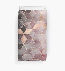 Funda nórdica Cubos de color rosa y gris degradado