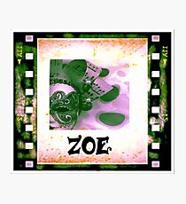 Zoe - personalize your gift Photographic Print