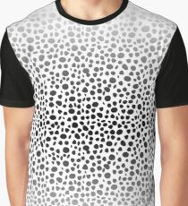 Small Random Dots Salmon Graphic T-Shirt