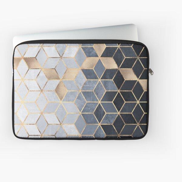 Soft Blue Gradient Cubes Laptop Sleeve