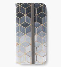 Soft Blue Gradient Cubes iPhone Wallet/Case/Skin